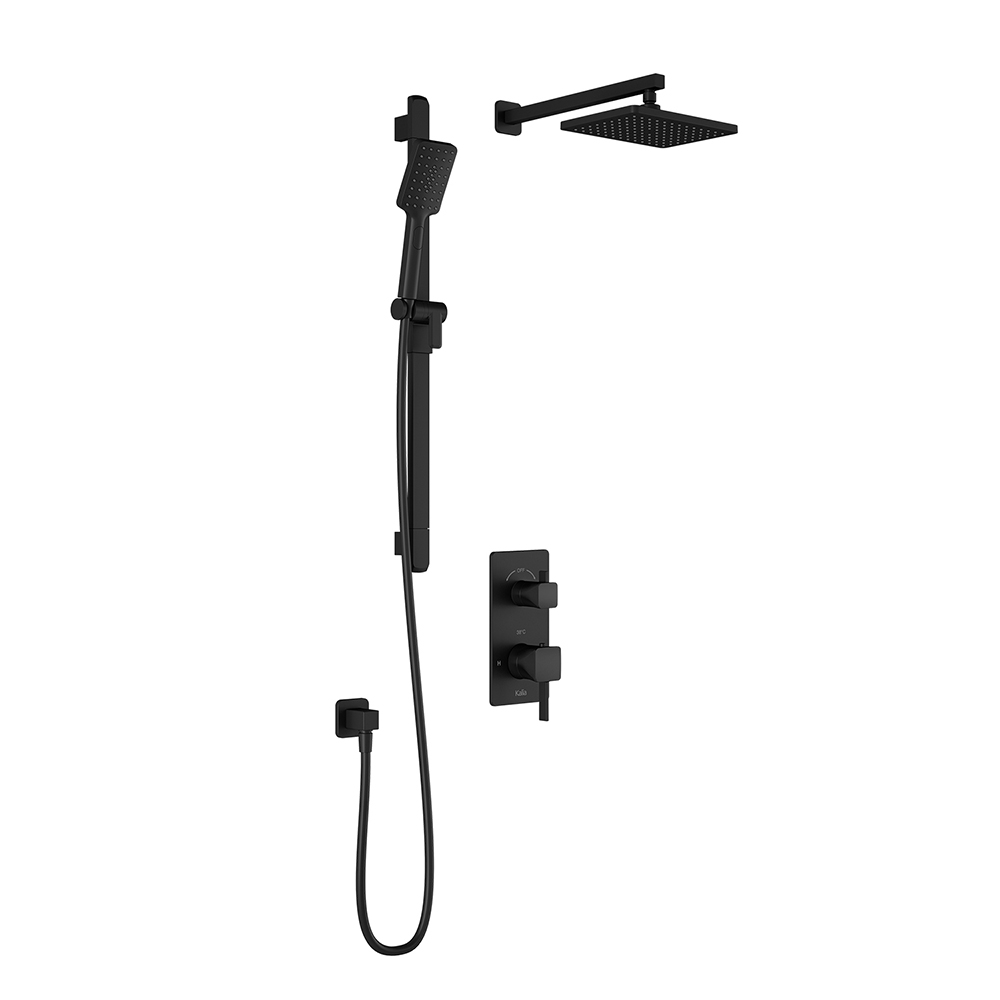 SquareOne™ TD2 : AQUATONIK™ T/P with Diverter Shower System with Wallarm Matte Black-BF1650-160