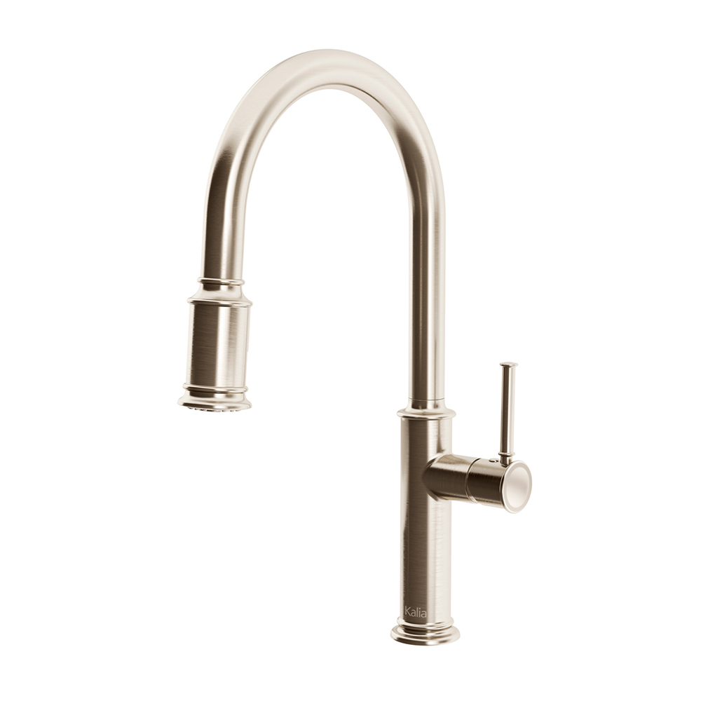 OKASION diver™ Single Handle Kitchen Faucet Pull-Down Dual Spray Stainless Steel PVD-KF1658-130