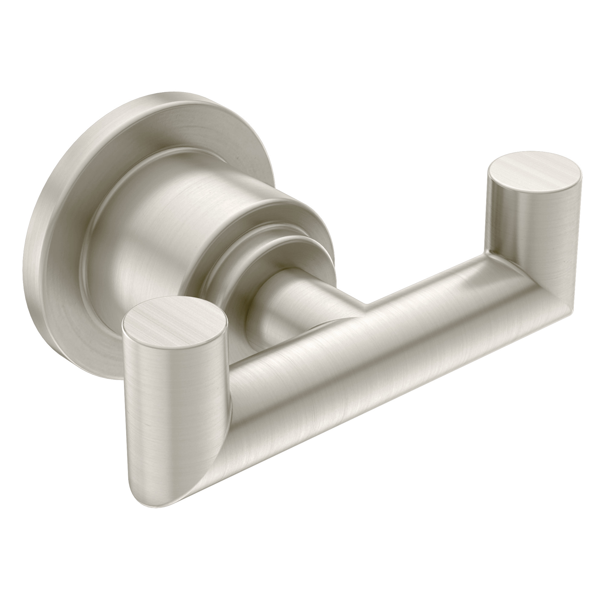 Arris Brushed nickel double robe hook MOEN-YB0803BN